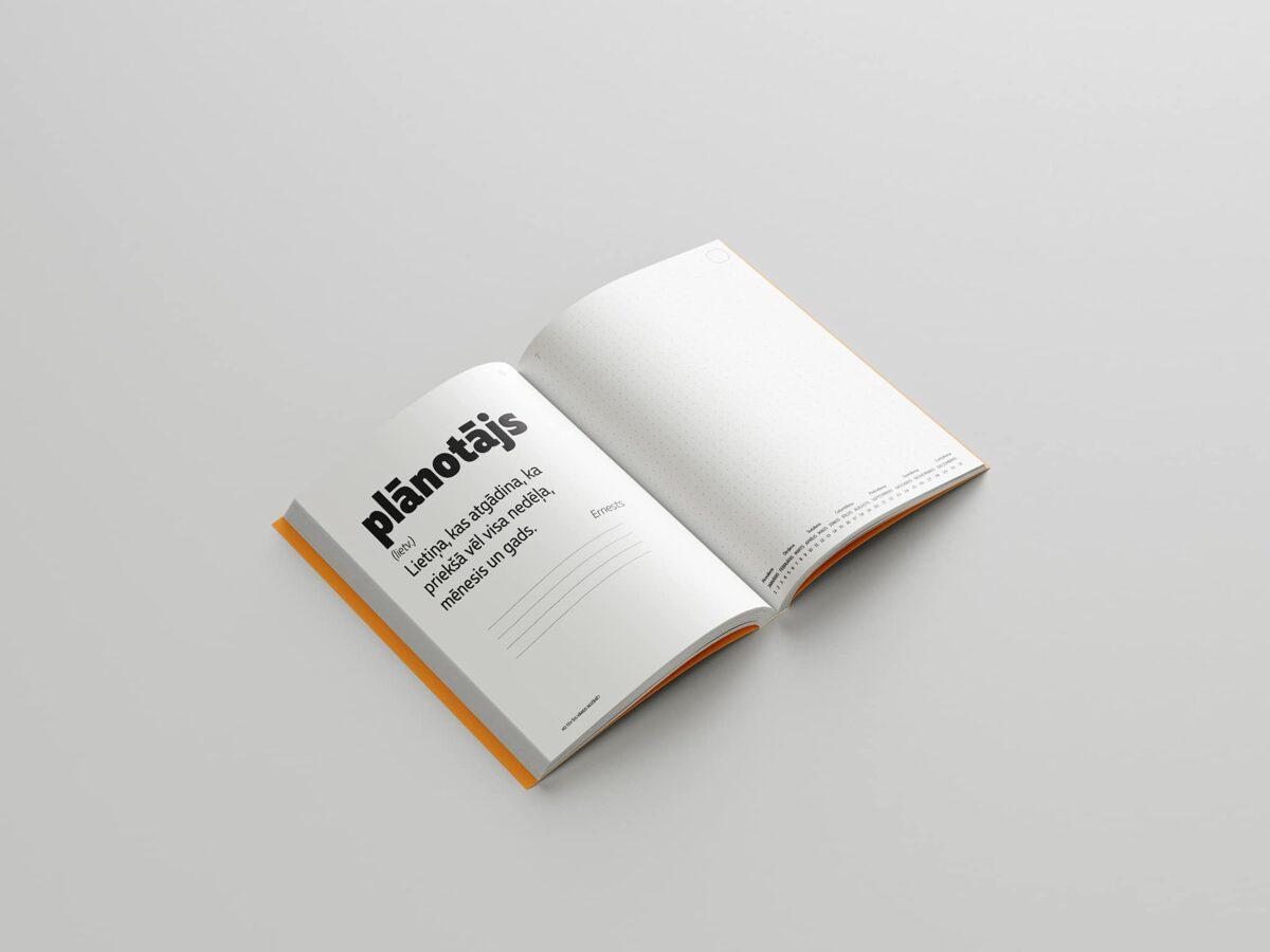 Plānotājs/piezīmju grāmata (pieaugušajiem un vecāko klašu skolēniem)